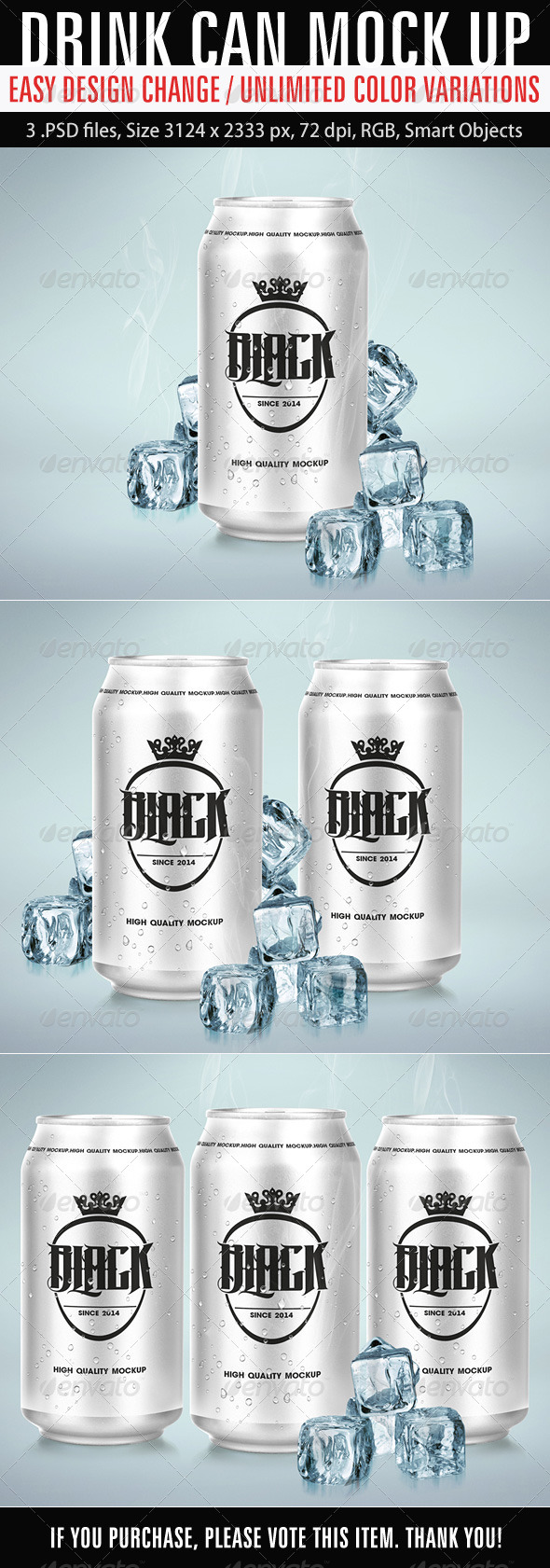 GraphicRiver Drink Can Mockup 6876917
