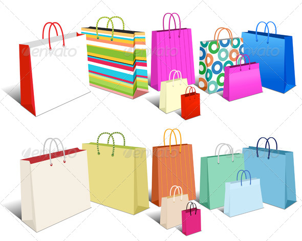 GraphicRiver Modern and Retro Shopping Bags Carrier Bags 6878237