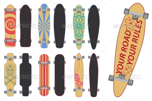 GraphicRiver Skateboards and Longboards 6878540