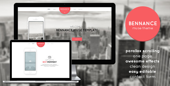 Bennance - One Page Muse Template - Muse Templates
