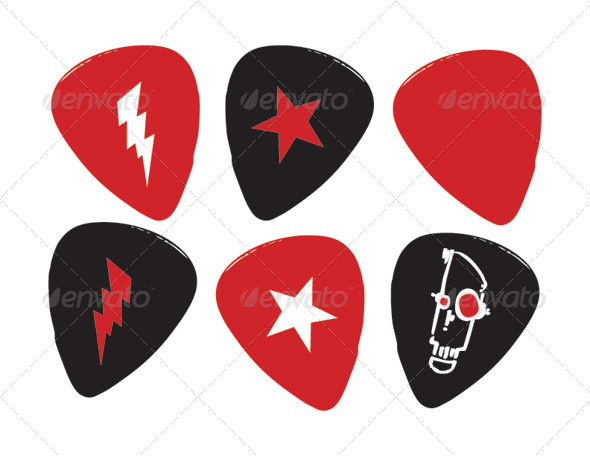 GraphicRiver Guitar Picks 720341