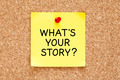 Whats Your Story Sticky Note - PhotoDune Item for Sale