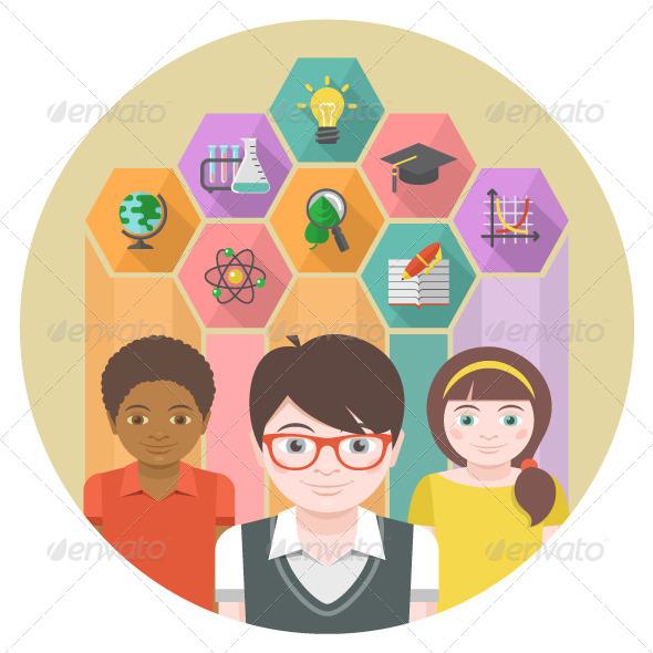 GraphicRiver Children and Knowledge 6879050