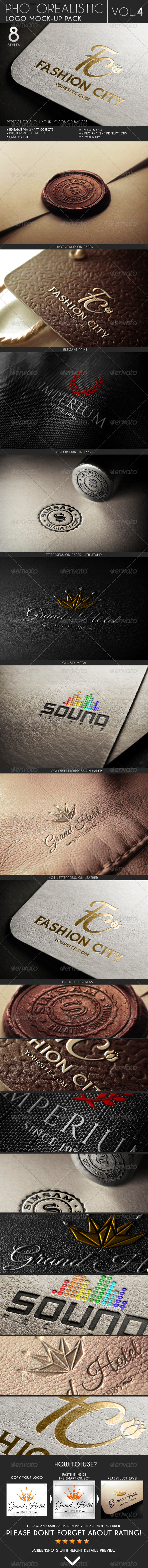 Photorealistic Logo Mock-Up Pack Vol.4 - Logo Product Mock-Ups