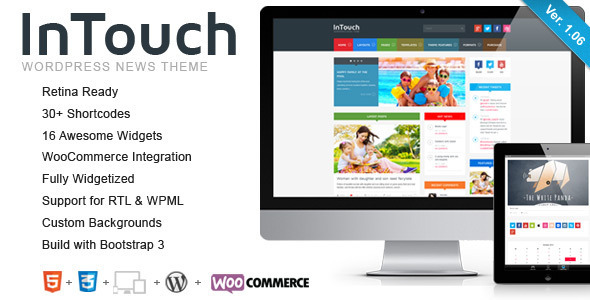 InTouch - Retina Responsive WordPress News Theme - Blog / Magazine WordPress