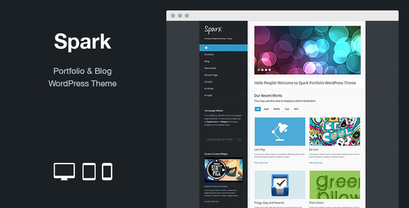 Spark: Portfolio & Blog WordPress Theme - Portfolio Creative