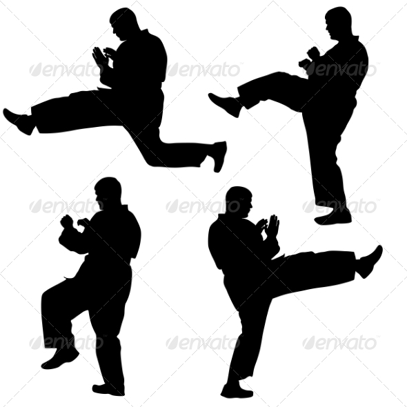 GraphicRiver Karate Silhouettes 6880052