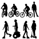 Cyclist Silhouettes - GraphicRiver Item for Sale