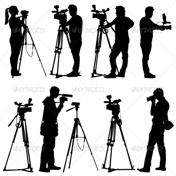 GraphicRiver Camera Silhouettes 6880060