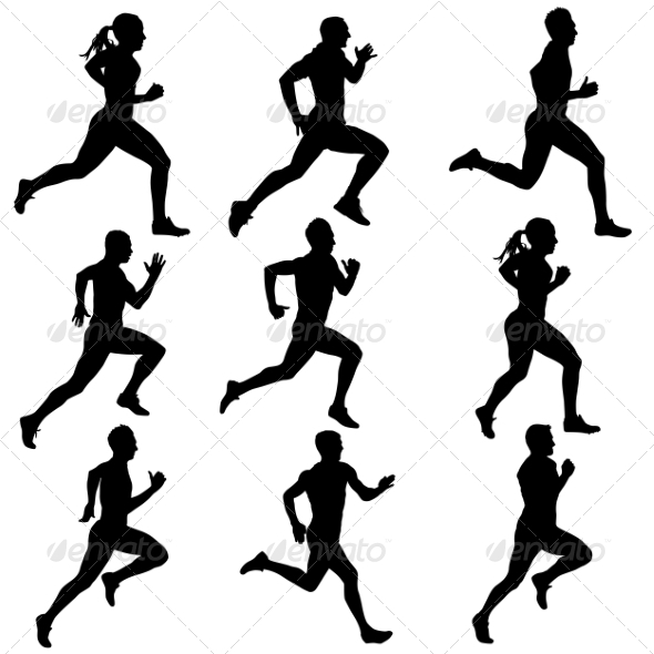 GraphicRiver Runner Silhouettes 6880096