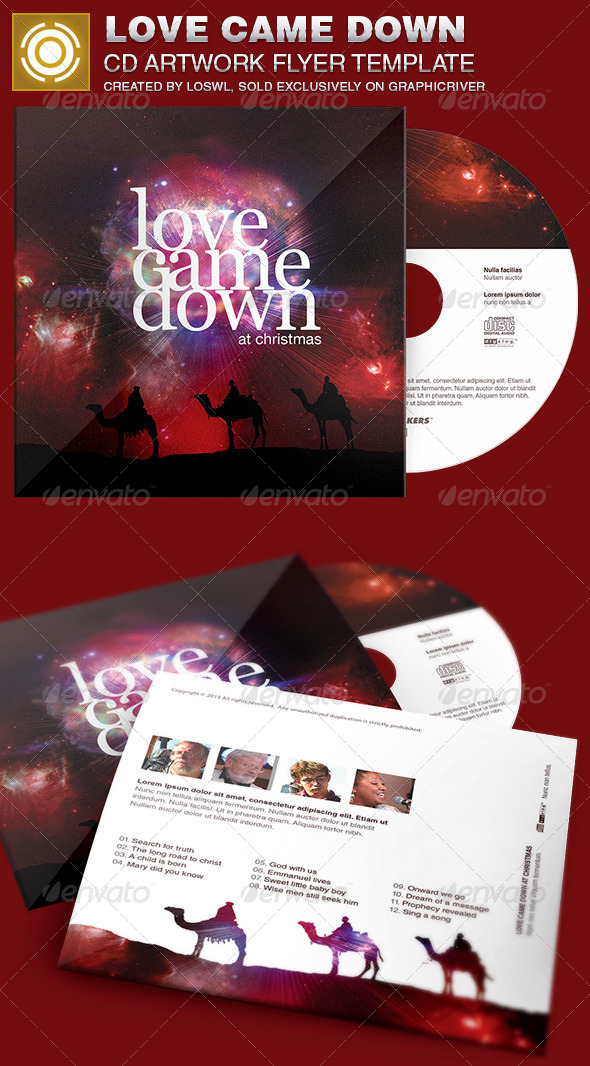GraphicRiver Love Came Down CD Artwork Template 6881439