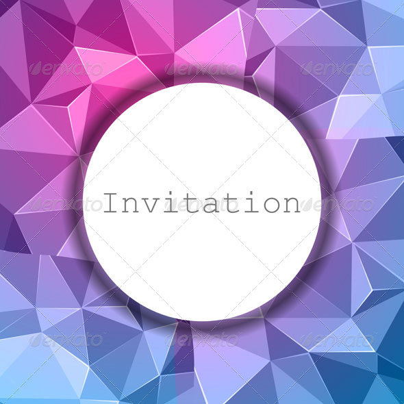 GraphicRiver Abstract Invitation Background 6881508