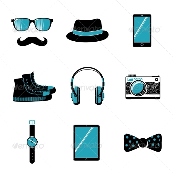 GraphicRiver Hipster Items Collection 6882288