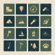 Outdoors Tourism Camping Flat Icons Set - GraphicRiver Item for Sale