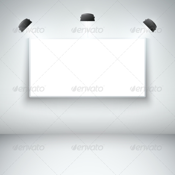 GraphicRiver Illuminated Blank Gallery Frame 6883315