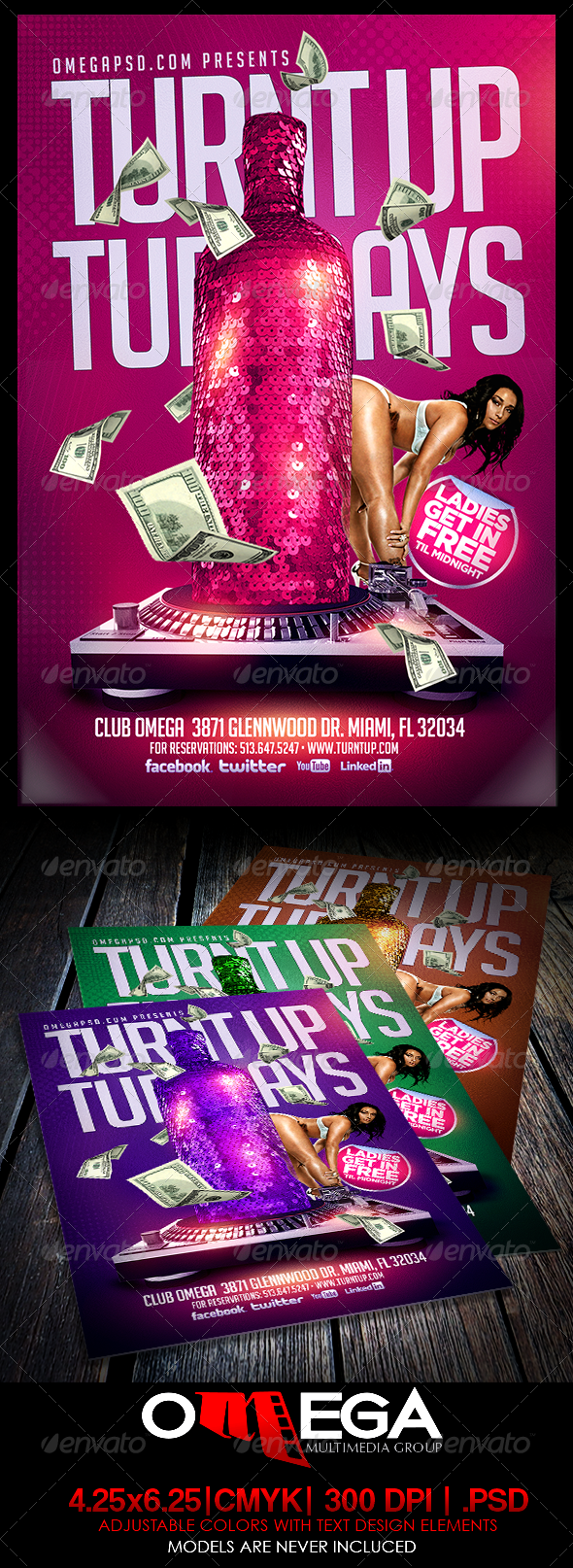 GraphicRiver Turnt Up Tuesdays 6883704