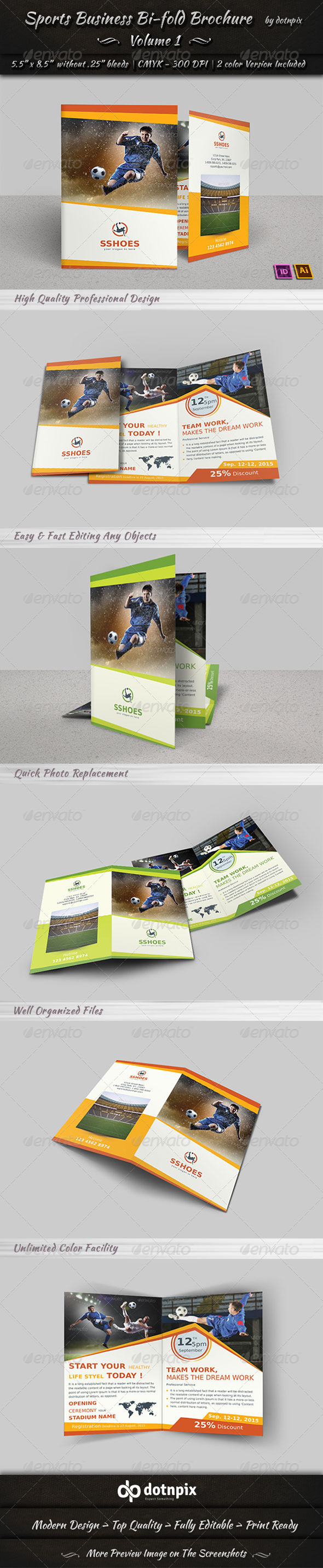 GraphicRiver Sports Business Bi-Fold Brochure Volume 1 6856131