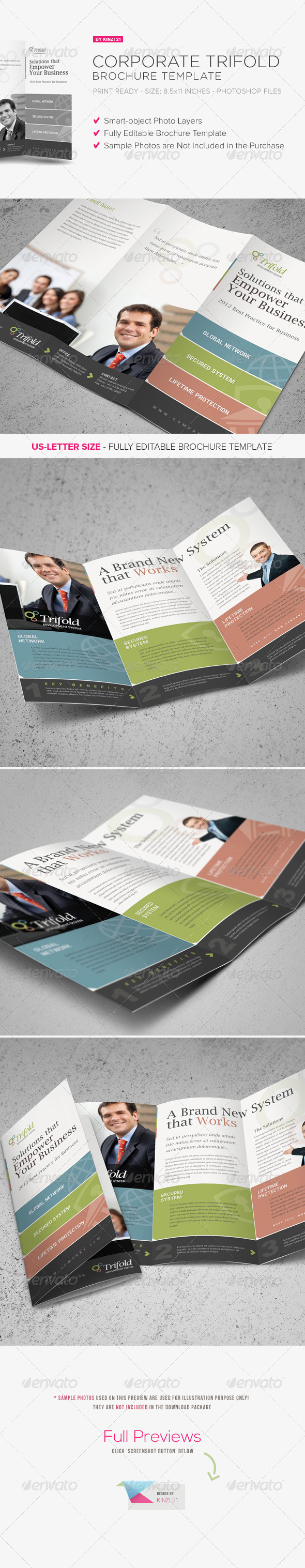 Corporate Trifold Brochure Template - Corporate Brochures
