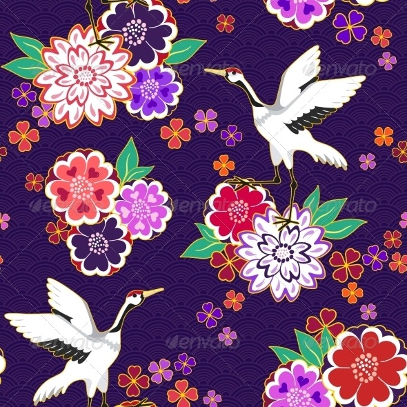 GraphicRiver Decorative Kimono Pattern 6884446