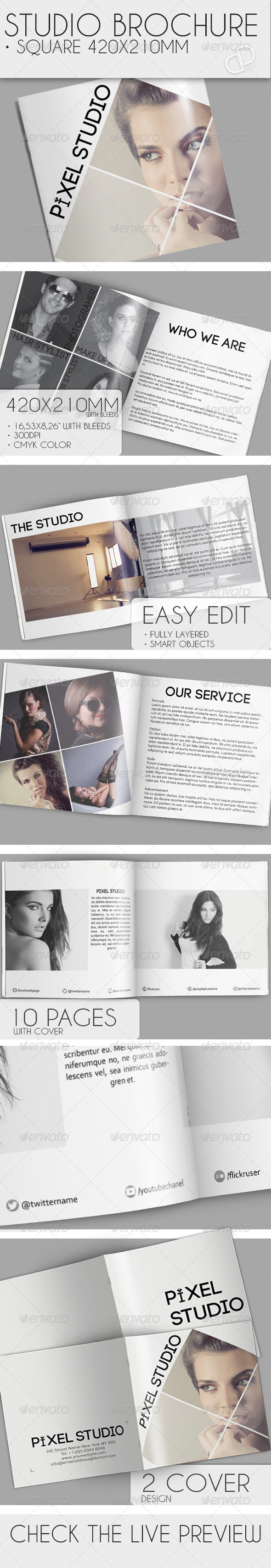 GraphicRiver Studio Brochure Square 6884614