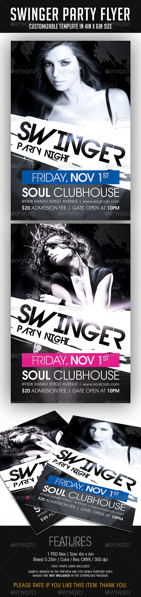 Swinger Party Flyer - Clubs & Parties Events