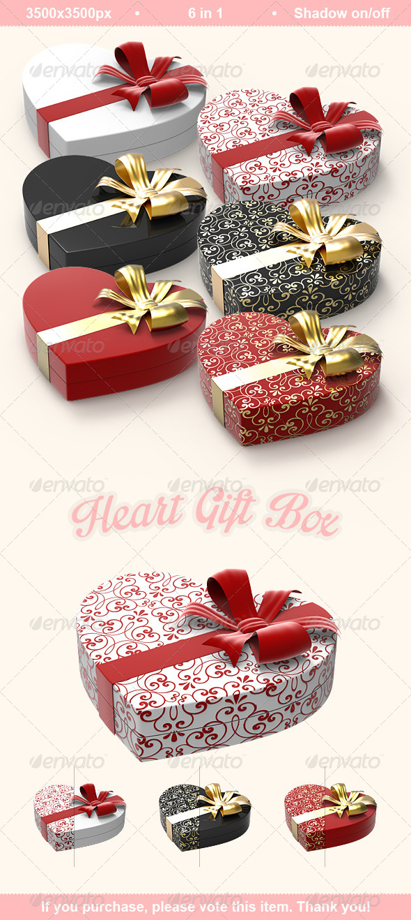 GraphicRiver Heart Gift Box 6885200