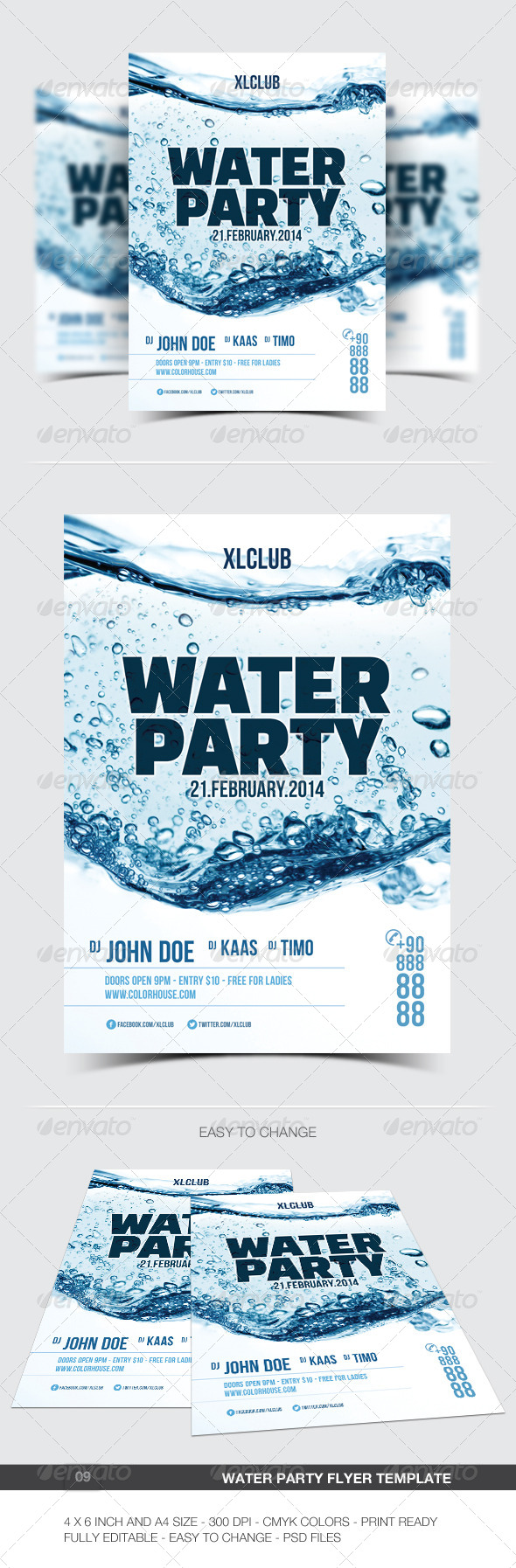 GraphicRiver Water Party Flyer Poster 09 6885398