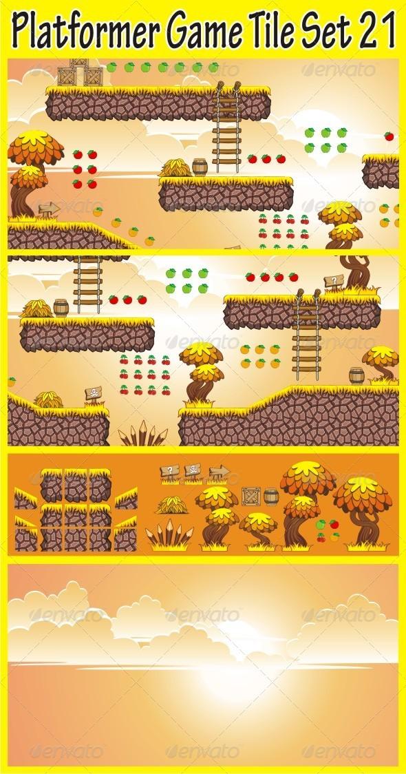 GraphicRiver Platformer Game Tile Set 21 6885476