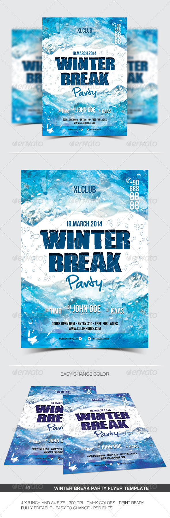 GraphicRiver Winter Break Party Flyer Poster 10 6885475
