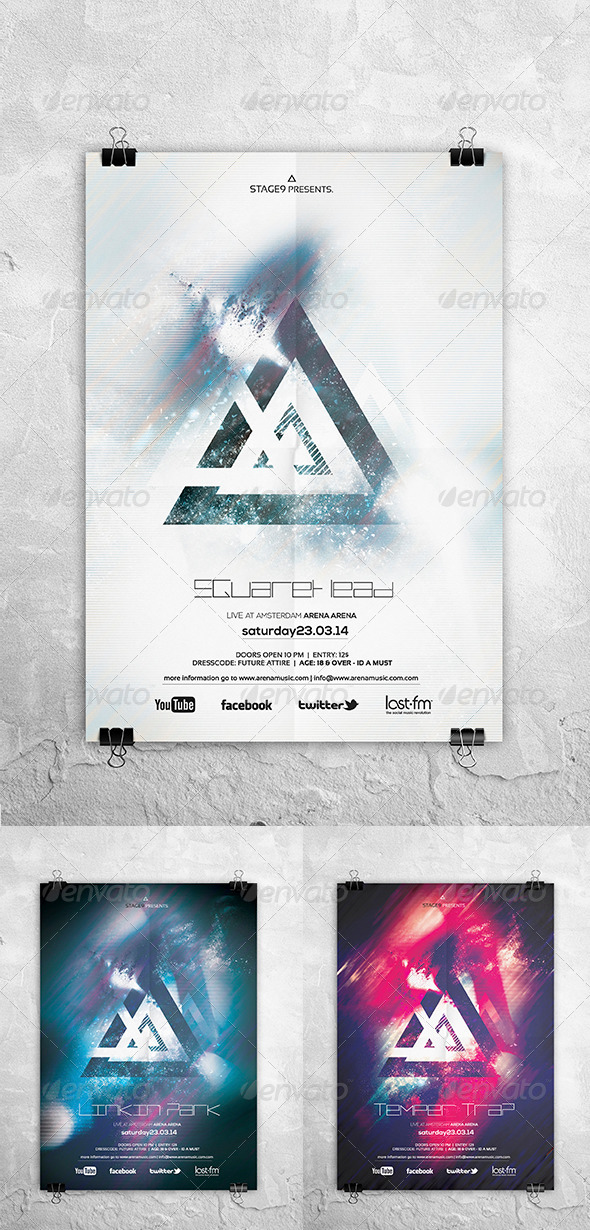 GraphicRiver Futuristic Flyer Poster Vol 6 6885478