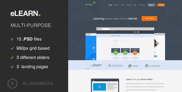 ThemeForest eLearn Multi-Purpose PSD Template 6885815