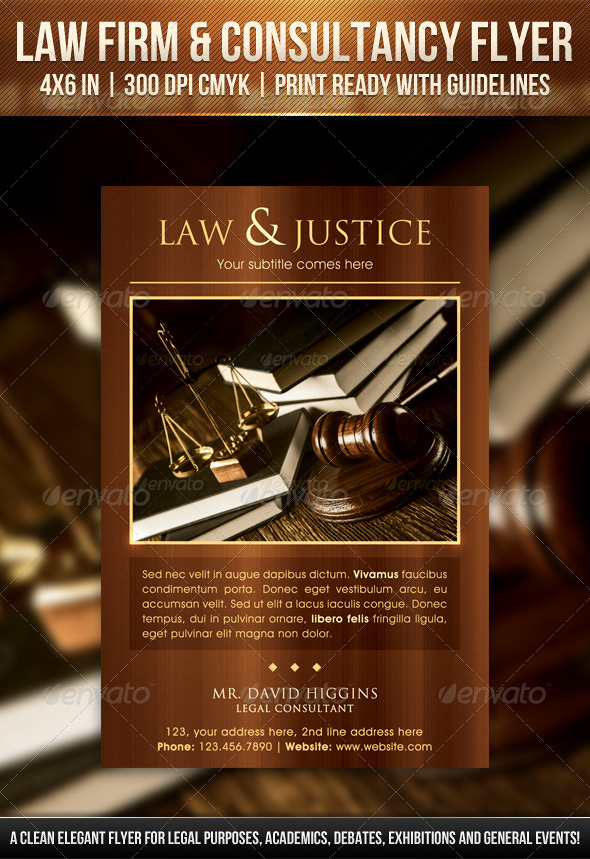 GraphicRiver Law Firm & Consultancy Flyer 6886249