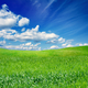 Green field, blue sky - PhotoDune Item for Sale