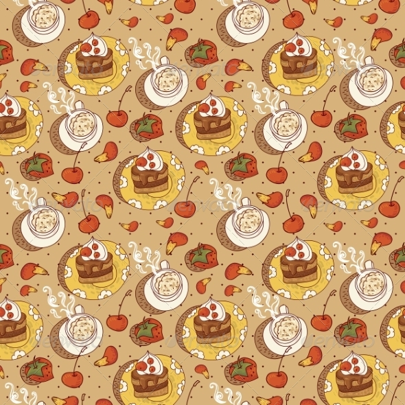 GraphicRiver Sweet Time Seamless Background 6887258