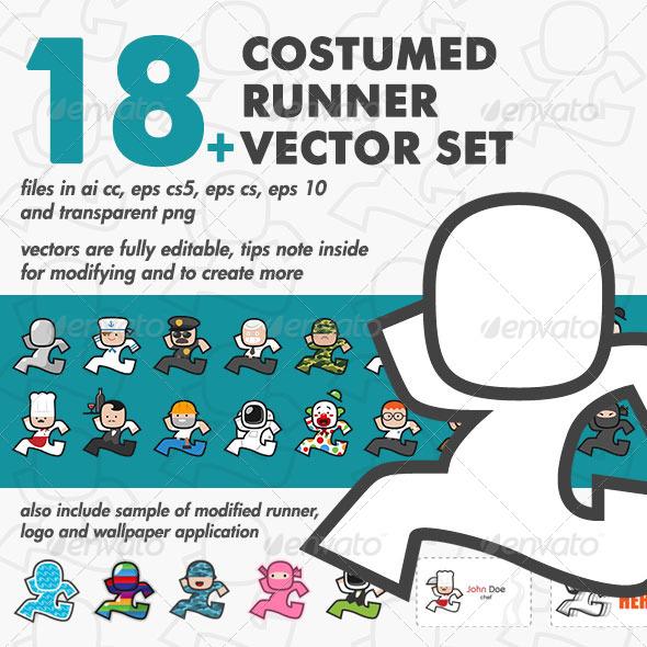 GraphicRiver Costumed Runner Set 6887462