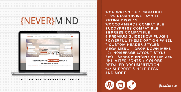 Nevermind - Multi Purpose WordPress Theme - Corporate WordPress