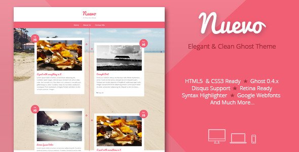ThemeForest Nuevo A timeline for Ghost 6888181