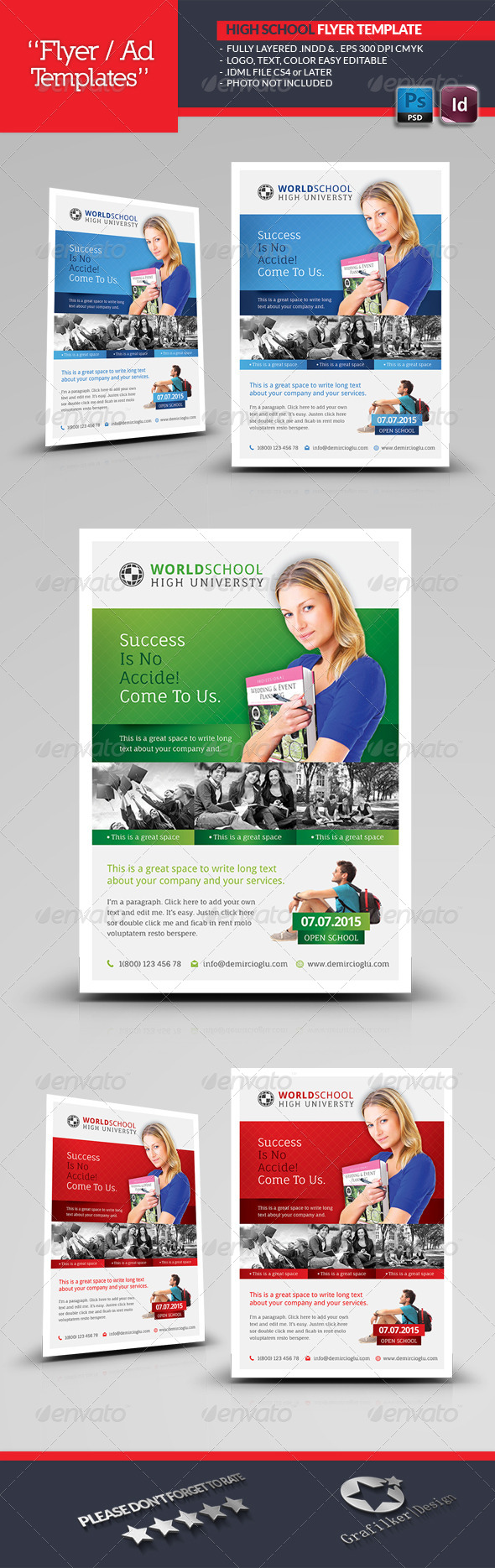 GraphicRiver High School Flyer Templates 6888588