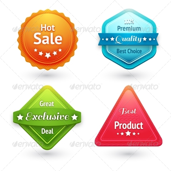 GraphicRiver Collection of Sale Labels 6889435