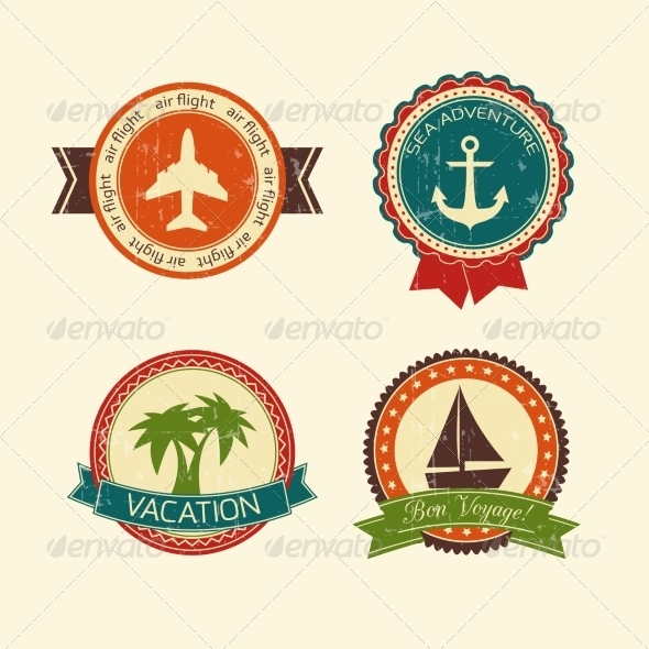 GraphicRiver Vacations Travel Badges Collection 6889616