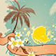 Summer Background with Palms and Sun - GraphicRiver Item for Sale