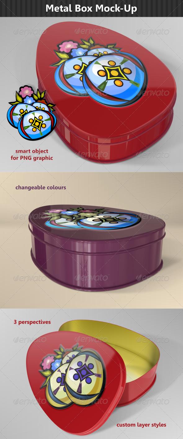 GraphicRiver Egg Metal Box Mock-Up 6885635