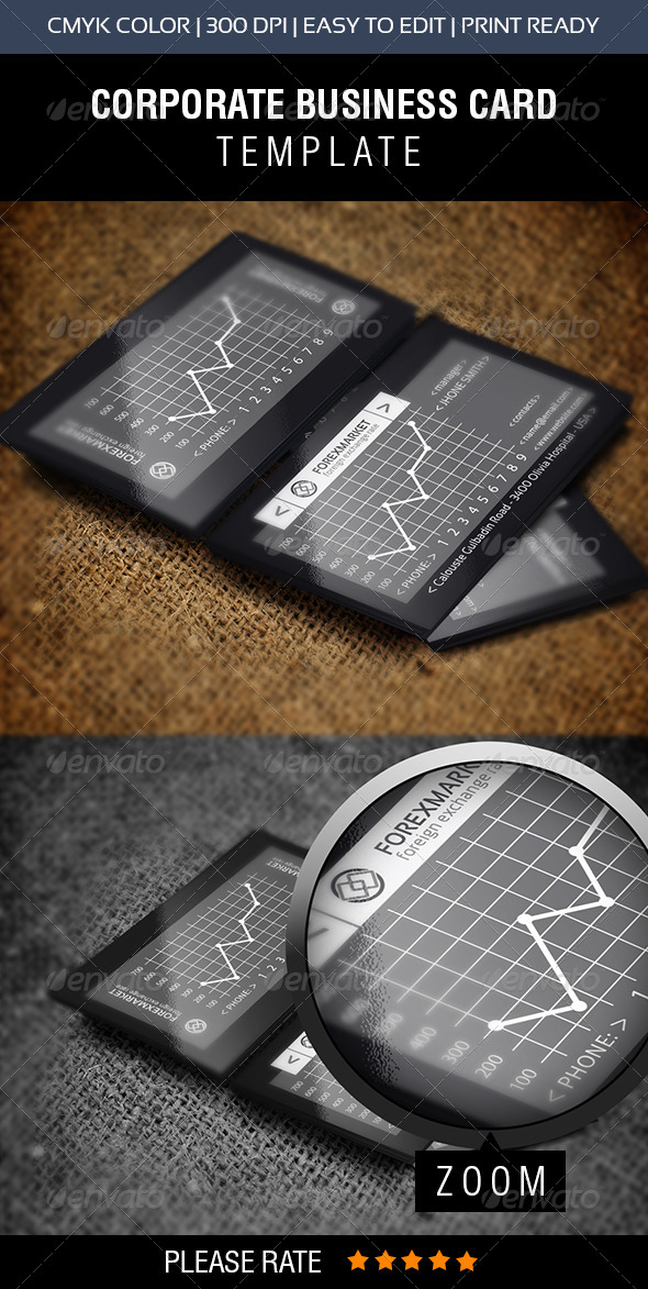 GraphicRiver Forex Market Business Card 6890560