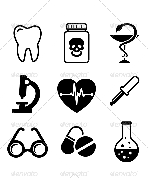 GraphicRiver Collection of Medical Icons 6890942