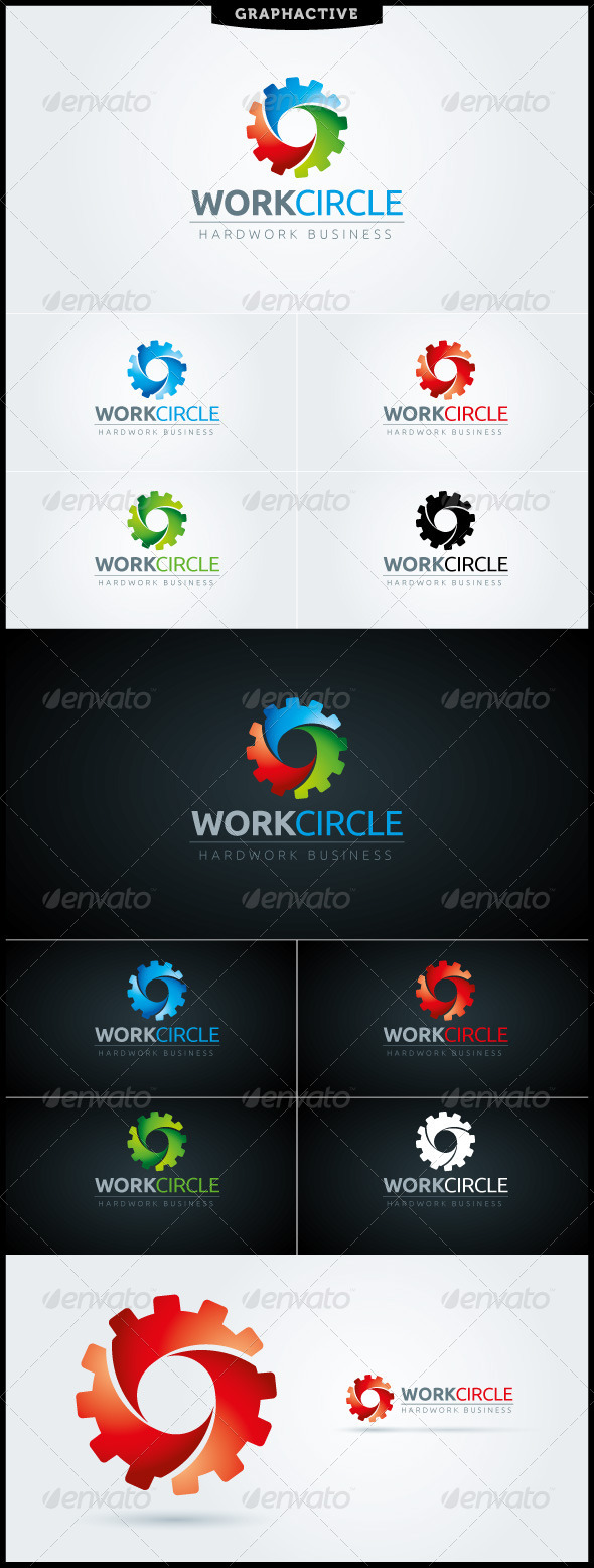 GraphicRiver WorkCircle Logo Template 6891289