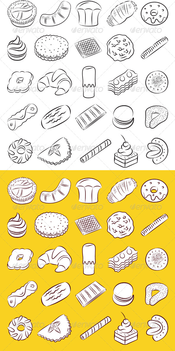 GraphicRiver Cookies Vector 6891990