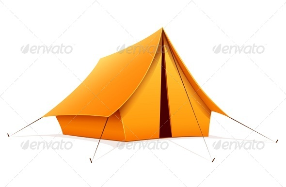 GraphicRiver Touristic Camping Tent 6892498