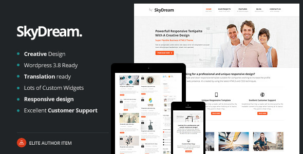 SkyDream Responsive Multi-Purpose WordPress Theme - Corporate WordPress