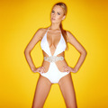 Beautiful shapely woman in a white swimsuit - PhotoDune Item for Sale