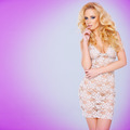 Glamorous young blond in a see-through dress - PhotoDune Item for Sale